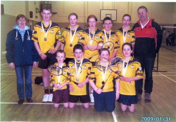 Winning badminton team - 2008